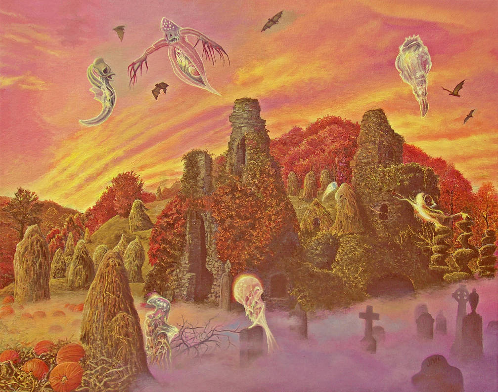 The Ruins in Autumn by Tolkyes