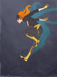 Batgirl jump by OlgaUlanova