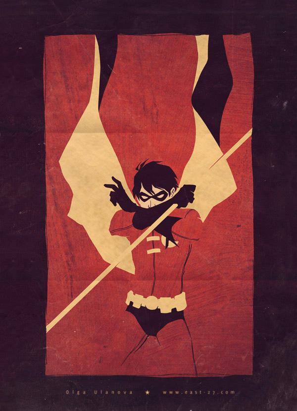 Robin a la retro by OlgaUlanova