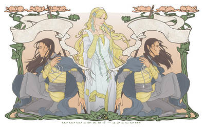 Celebrian and Her Sons - LotR by OlgaUlanova