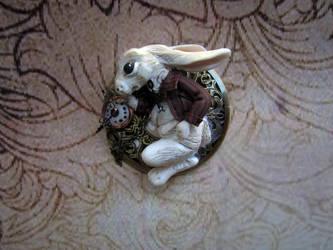 Lewis Carrol White Rabbit by hodryronja