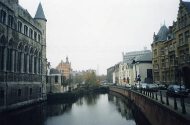 Ghent, Along A Canal by Metal-Valkyrie