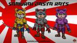 Samurai Pasta Rats by AnutDraws