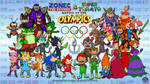 Zonec and Tomato: Battle at the Olympics by AnutDraws