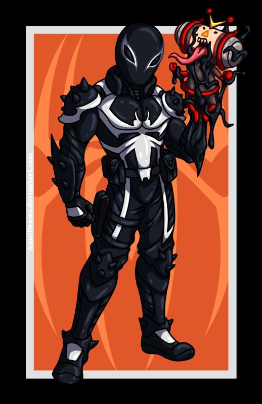Agent Venom vs. Kuro by AnutDraws