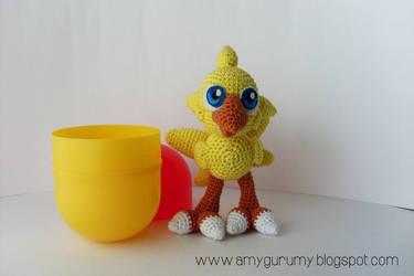 Chocobo - Easter egg by Amygurumy
