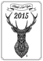 Happy New Year 2015 - Card by Amygurumy