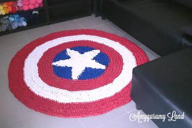 Captain America Carpet by Amygurumy