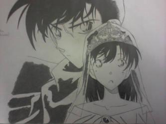 Kudo Shinichi and Mouri Ran by yuukadesu