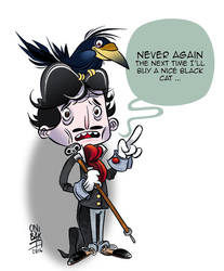 Edgar Allan Poe by OniBaka