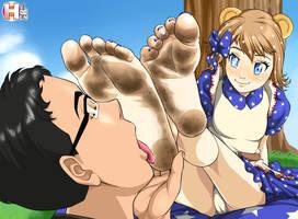 Amelia's feet by RankerHen