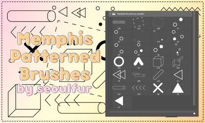 Memphis Pattern Brushes Pack by seoulfur