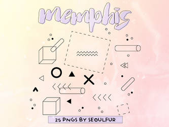 Memphis Png Pack by seoulfur