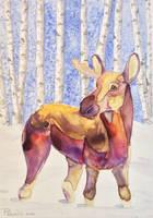 Alaskan Unicorn-Winter by Snarkyandbarky