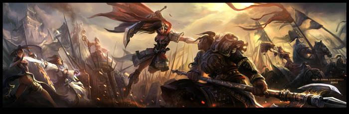 Miss.Hua fighting Mr.Zhao by su-ke