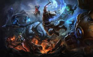 league of legends wallpaper by su-ke