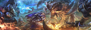 League of legends Youtube banner by su-ke