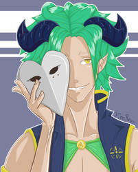 Masked demon by KeoRawn