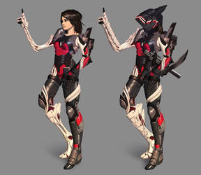 Cyborg girl 06 by AlpYro