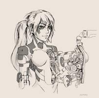 Cyborg girl 19 by AlpYro