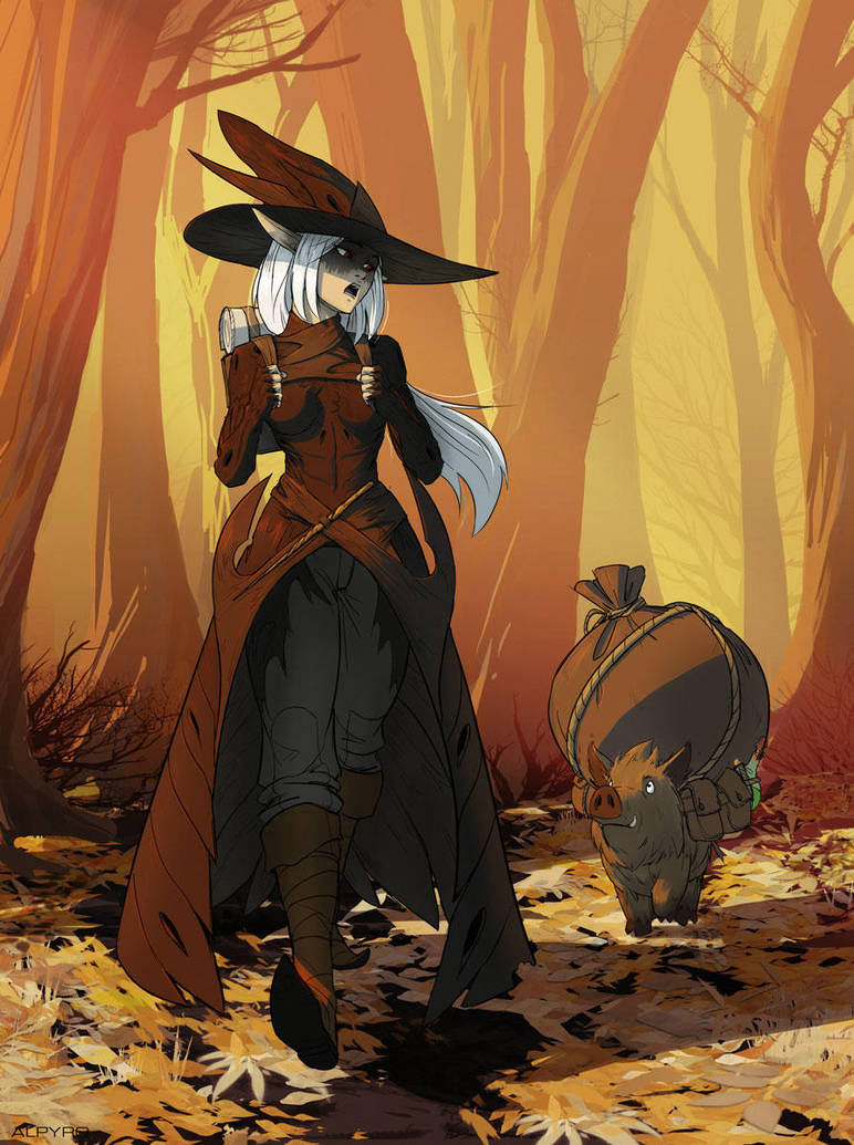 Armell the witch by AlpYro