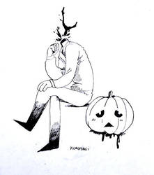 Drawlloween Day 6-Pumpkin by Kuroiyagi