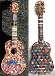 Mosaic Guitar by Sarajane-Helm