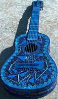 BlueGlass Guitar by Sarajane-Helm
