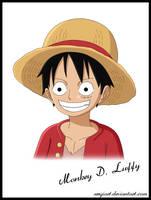 Monkey D. Luffy portrait by SergiART