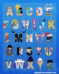 One Piece Alphabet by SergiART