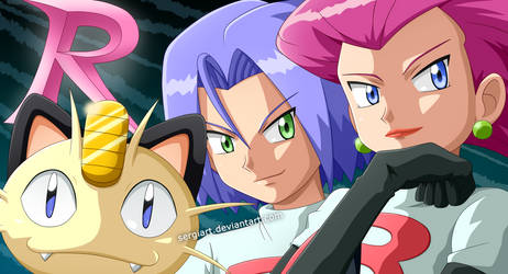 Pokemon - Here comes Team Rocket! by SergiART