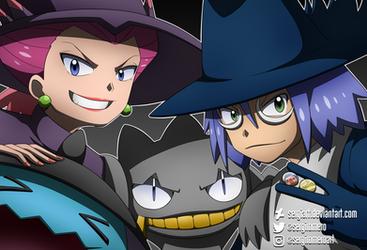 Pokemon - Halloween Team Rocket by SergiART