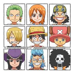 Straw Hat Pirates by SergiART