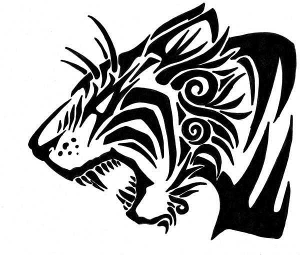 tribal tiger designs - 600×510
