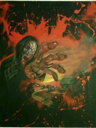 Zombie Painting 3 by Gloomndoom