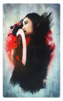 'Japanese Beauty' STENCIL by Artby2Heads