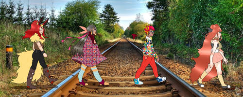 Walking Across the Tracks by orchidi