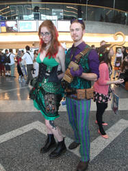 Victorian Poison Ivy and Riddler by universalladyn