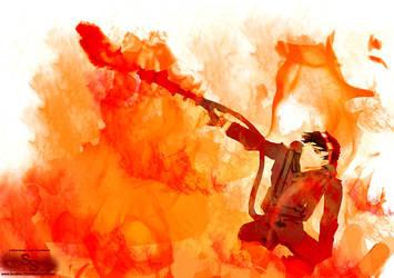 Lance flamme by BlueSand-Tiger