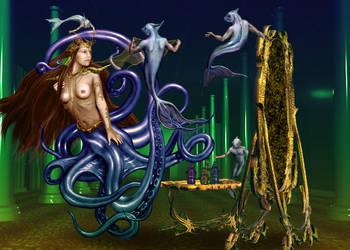 Octopus-mermaid by daleziemianski