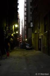 Los Angeles Alley 7am by Seanoriordan