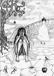 Crying Bride by lidiaBartlam