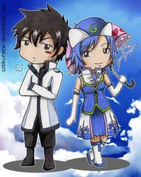 Chibi: Gray and Lluvia by satikohime