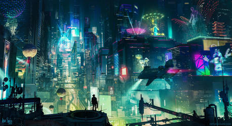 Cyberpunk City by artursadlos