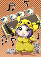 Commission chibi-pikachu by ACPuig