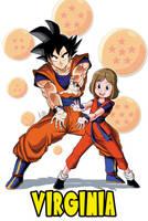 Commission Goku Con Una Fan by ACPuig