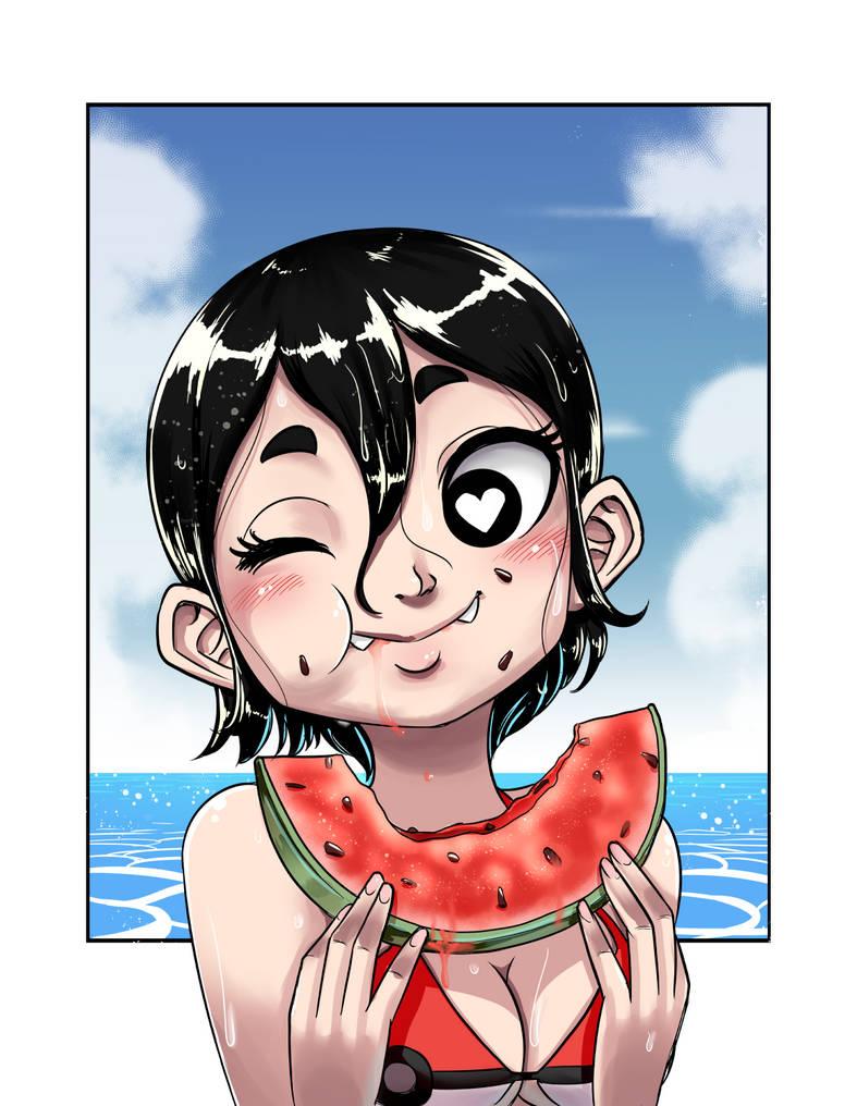 Playa y sandia by ACPuig