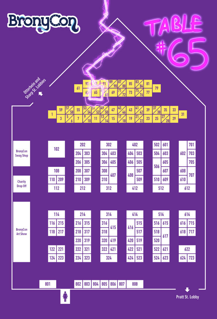 BronyCon 2017 map by Dreatos