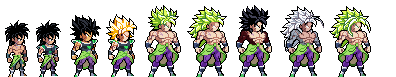 broly(DBS) All* forms by Dragon-ExE