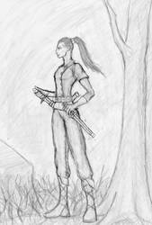Pathfinder group: Iskra, the half-elf rogue by persistant